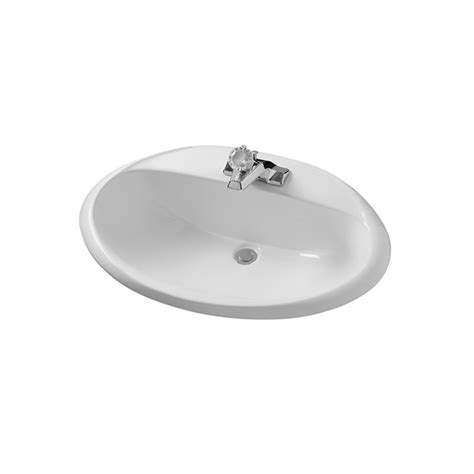 American Standard Porcelain Kitchen Sink American Standard 0439 008us 020 White Ohio 20 Quot Drop In Porcelain Bathroom Sink Faucetdirect