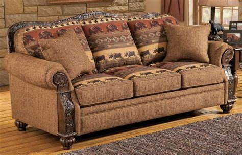 cabelas couch marshfield furniture pine cone lodge queen sleeper