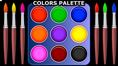 teaching colors learn colors with color palette for children teach