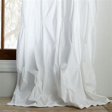 how to make pintuck curtains pintuck curtain white west elm sew nice pinterest