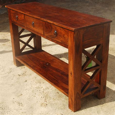 console sofa table with storage drawers rustic entry console table solid wood 2 tier storage