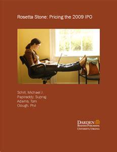 rosetta stone ipo business case studies business publications darden