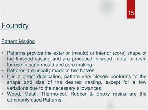pattern making allowances ppt hmt machine tools ltd ajmer summer training presentation