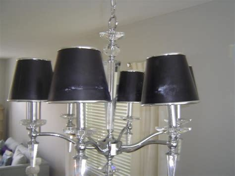 Chandelier With Black Shades Chandelier With Black Shades Primo Mid Century Modern Brass Black Shade 4 Light Chandelier