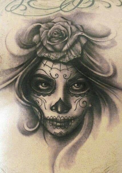 sugar skull face tattoo sugar skull faces pinterest