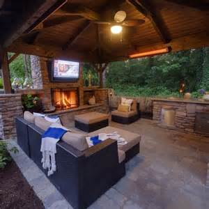 covered patio with fireplace noelito flow outdoor living covered patios and tvs