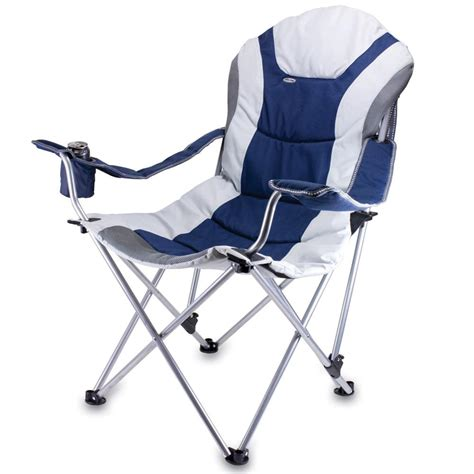 Reclining Folding Chairs by Reclining C Chair Navy Picnic Time 803 00 138