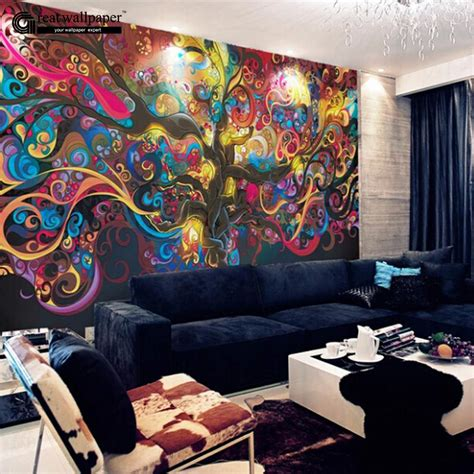 living room wall murals aliexpress com buy living room tv background wall