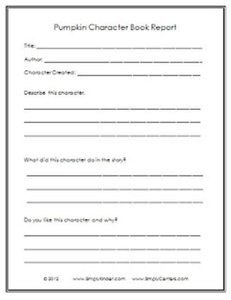 pumpkin book report template pumpkin book report freebie simply kinder