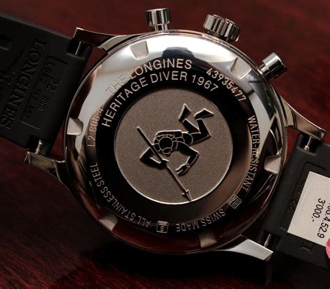 longines dive longines heritage diver 1967 chronograph on