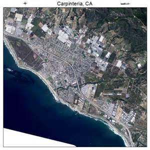 aerial photography map of carpinteria ca california