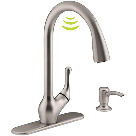 moen haysfield kitchen faucet electronic sensor kitchen faucets