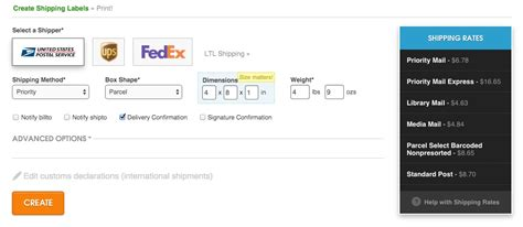 create a shipping label online ordoro how do i create a single shipping label