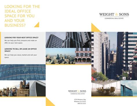 Free Tri Fold Brochure Templates Exles 15 Free Templates Commercial Real Estate Marketing Templates