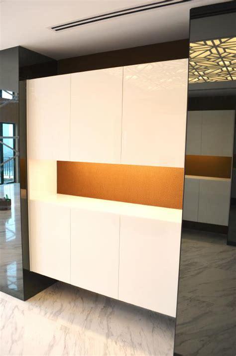 Foyer Cabinet Design Penthouse Storey Modern Front Foyer Of