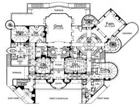 Mansion Blueprints Inside Castles Castle Floor Plan