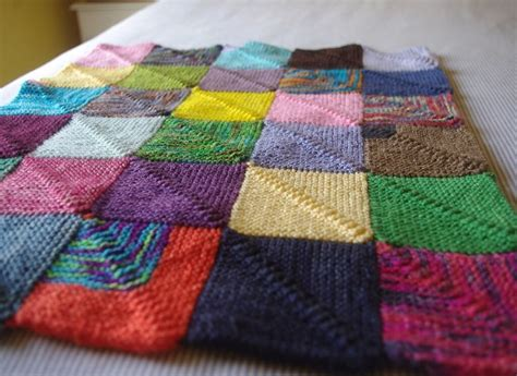 decke gestrickt knitting a blanket sized