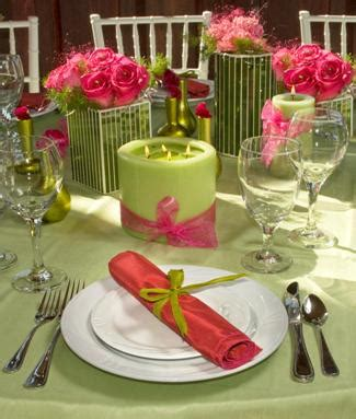 wedding ideas bright pink and lime green wedding