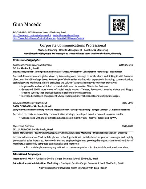corporate communications high experience resume sles vault