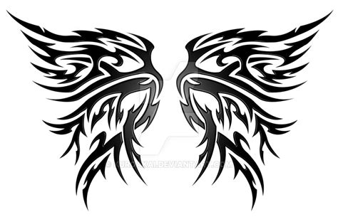tattoo tribal wings designs wings tribal v2 by kuroakai on deviantart