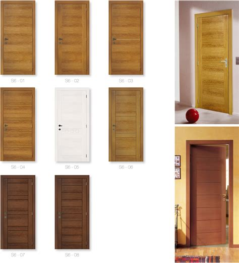 Home Decoration Craft by American Red Oak Veneered Flush Wooden Door Design With