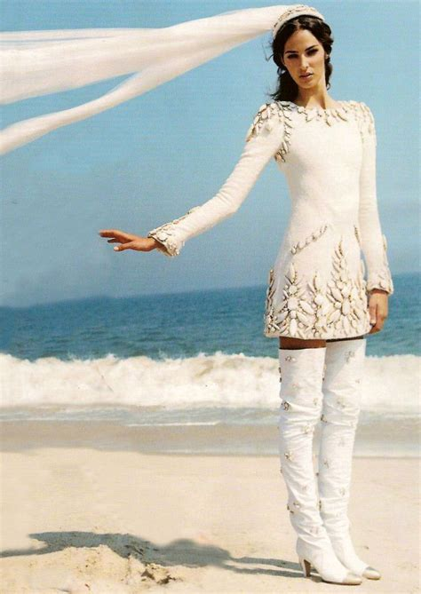 Minidress Fall emina cunmulaj in a fall 2006 wedding minidress and thigh