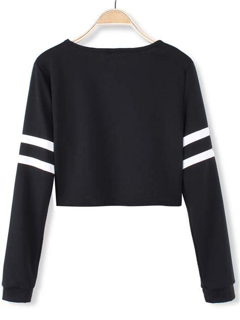 Tshirt Baseball Minie Series Crop T Size Xl Ld 100cm buy white stripped black sleeve crop baseball t shirts bazaargadgets