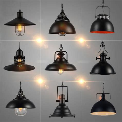 country style lighting industrial vintage pendant lights with e27 edison bulb