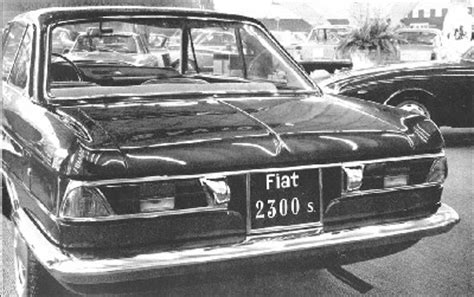 internationales fiat 2300 register der fiat 2300s coupé ig