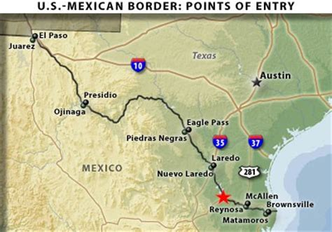 map of texas border with mexico map texas mexico border swimnova