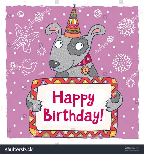 kawaii birthday card template happy birthday greeting card template stock vector