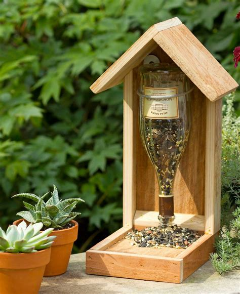 wine bottle l ideas 11 recycled diy wine bottle bird feeders guide patterns