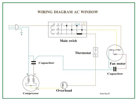 wiring diagram ac window refrigeration amp air conditioning
