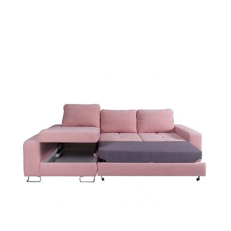 pink corner sofa bed astrid modern fabric corner sofa bed in pink with storage