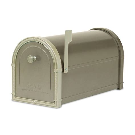 architectural mailboxes bellevue bronze with white bronze