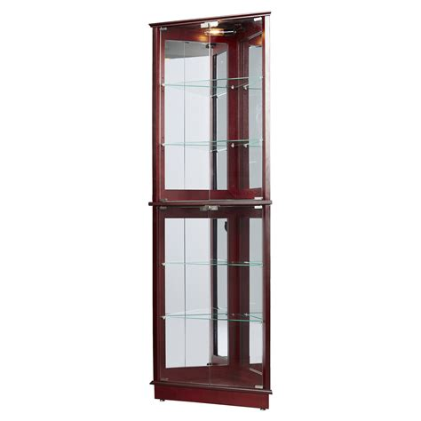 corner kitchen curio cabinet charlton home lohmer corner curio cabinet reviews wayfair