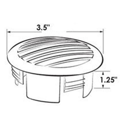 boat blower vent grill vent grill 3 quot white domed press fit