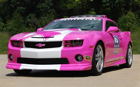 pink cars 2012 chevrolet camaro ss pink pace car photo 1