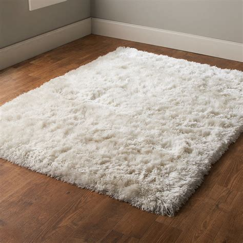 polar white shag rug shades of light