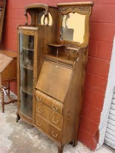 Antique Oak Secretary Desk With Hutch American Antique Victorian Break Front Secretary Bookcase Desk