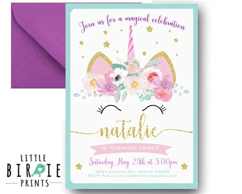 printable birthday cards unicorn unicorn birthday invitation unicorn invitation printable