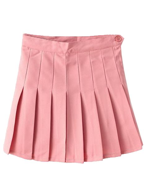 pink pleated mini skirt choies