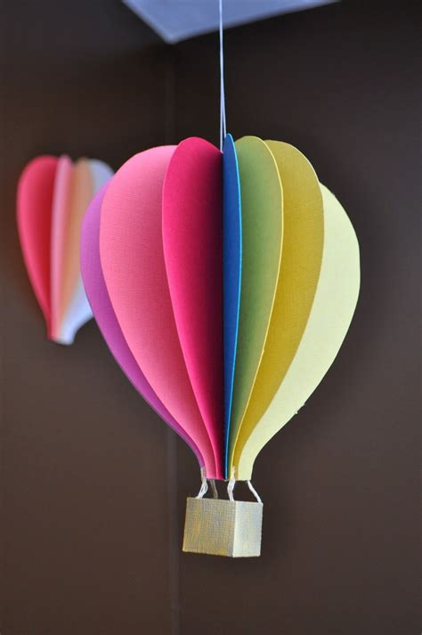 Make A Paper Air Balloon - papercraft air balloon mobile tutorial yay another