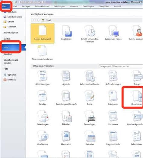 Word Vorlage Mit Feldern Erstellen Word Brosch 252 Re Erstellen Hier Gibt S Vorlagen Chip