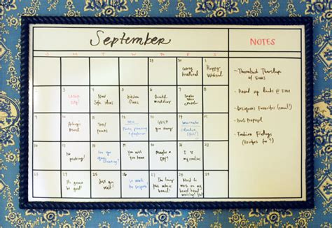 how to make a calendar on your whiteboard diy whiteboard calendar green notebook