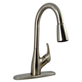 best rv kitchen faucets faucets 8 quot single handle rv kitchen faucet w pull sprayer brushed nickel finish