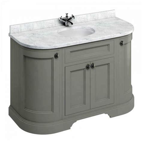 burlington 134 curved vanity unit with doors uk