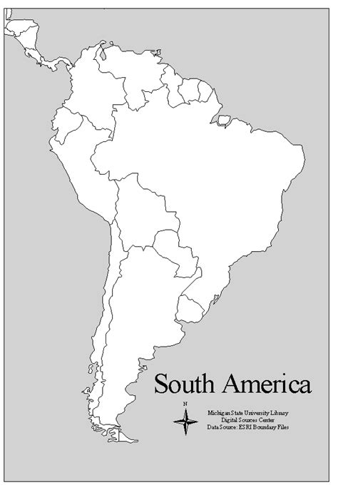 printable map of south america printable map of central america and south america
