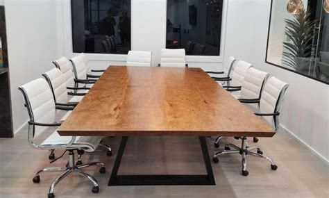 large 3m x 1 6m boardroom table handmade by eclipse for a