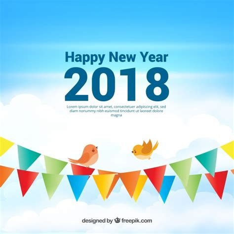 new year 2018 vector realistic new year 2018 background with garlands vector